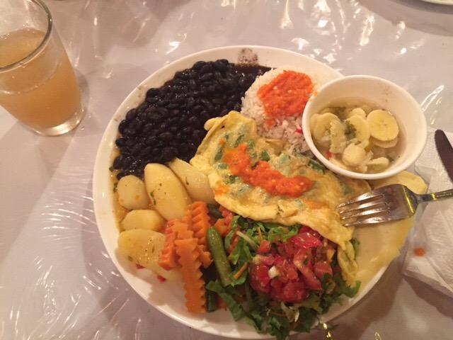 tasty vegetarian casado Cyn had in Santa Elena
